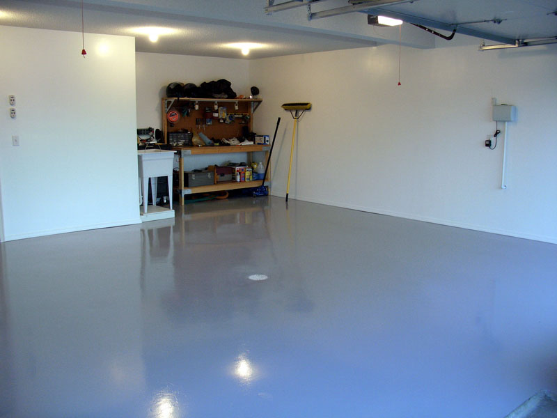 Garage floor epox painting eco house painting for Painting garage floor